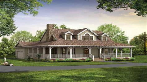 country house plans  wrap  porch country house plans  basements single story