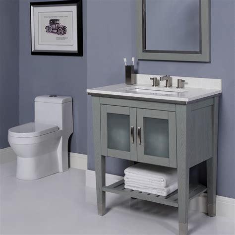 decolav 30 inch slate finish bathroom vanity solid