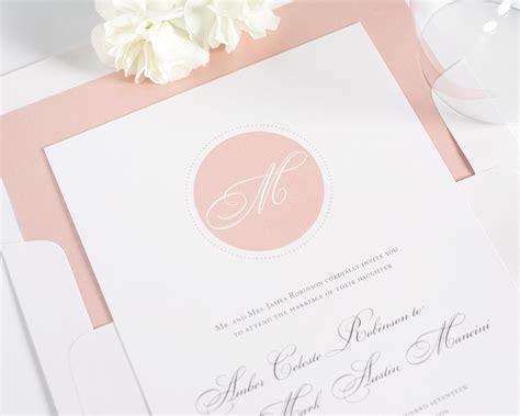 Circle Monogram Wedding Invitations-wedding Invitations