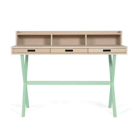 bureau secr騁aire meuble secrétaire hyppolite vert pastel harto design la folle adresse