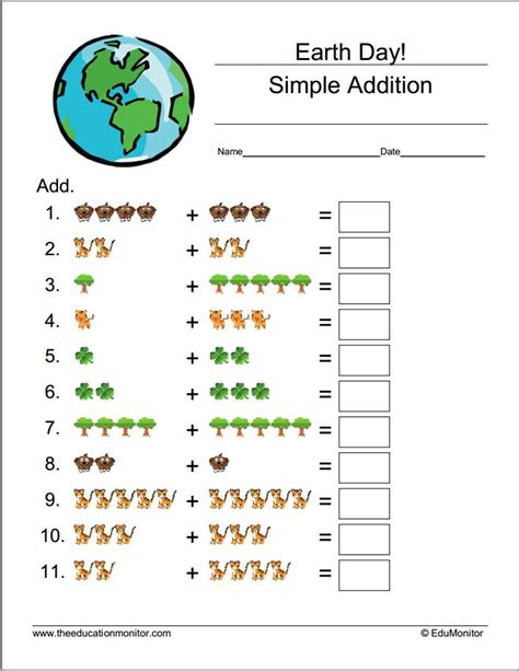 earth day math activities for preschoolers earth day worksheets amp printables edumonitor 736