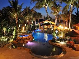 Outdoor lighting around pool waterfall lights nashville