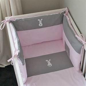 Tour De Lit Et Gigoteuse Fille : tour de lit fille lapinou rose accessoire lit b b pony design ~ Teatrodelosmanantiales.com Idées de Décoration