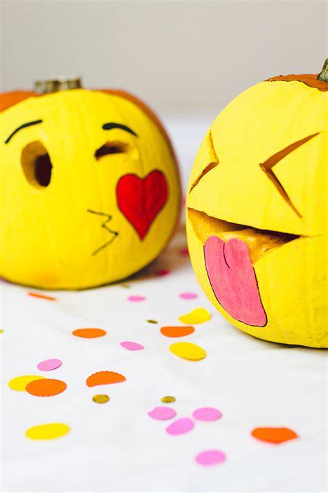 diy pumpkin emojis  halloween decor  carving crafts