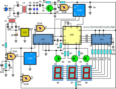 Digital Remote Thermometer Circuit Diagram