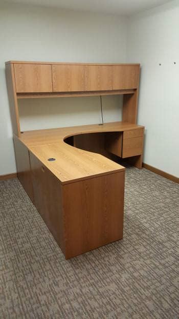 hon desk hutch hon corner desk with hanging drawers and hutch