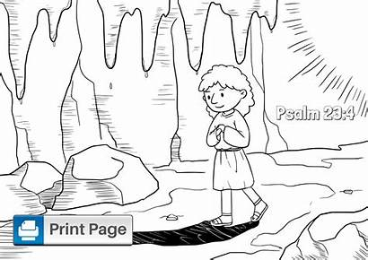 Psalm Coloring Printable Niv Sheet Through Down