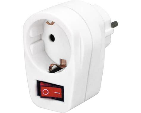wandle mit schalter und stecker adapterstecker mit ein aus schalter und kontrollleuchte wei 223 bei hornbach kaufen
