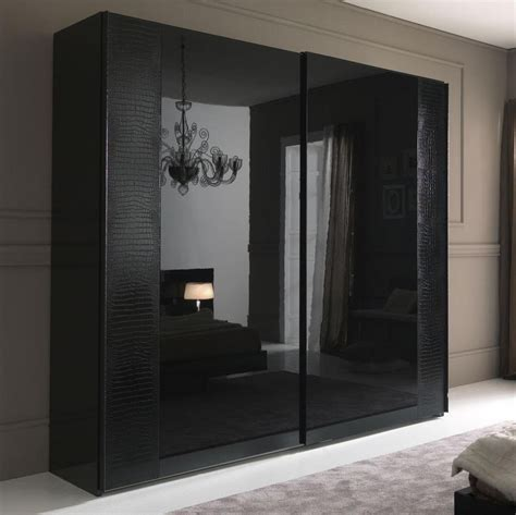 Black Wardrobe by Nightfly Black 2 Door Sliding Wardrobe Armoires