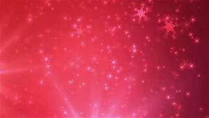 Red Christmas Snow Motion Loop - Church Media Resource