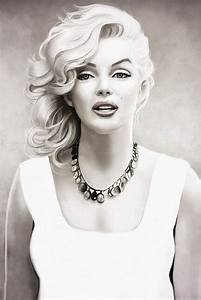 Marilyn Monroe Black and White Art Poster – My Hot Posters ...