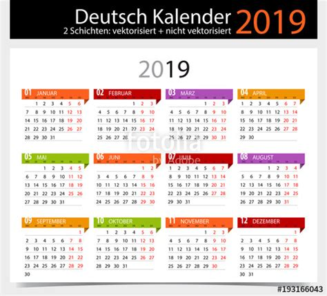 deutsch kalender german calendar stock image royalty