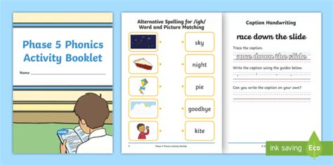 * New * Phase 5 Phonics Activity Booklet  Letters And Sounds