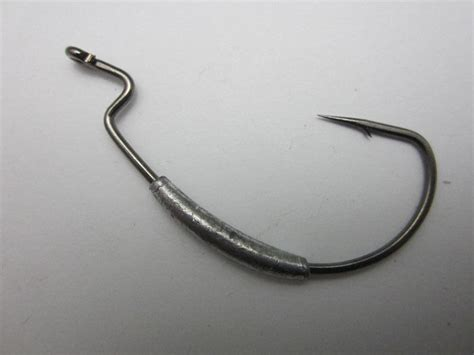 fishing swim bait hook extra wide gap weighted worm