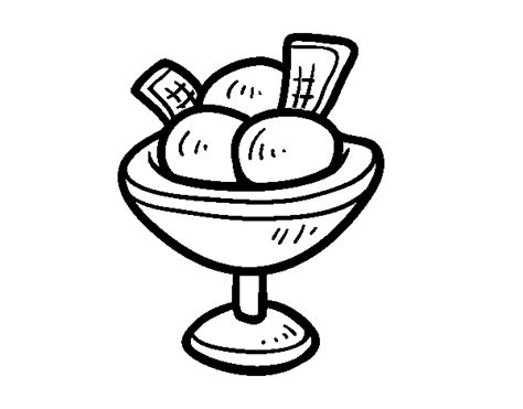 Helado Kleurplaat by Cup With Three Balls Of Coloring Page