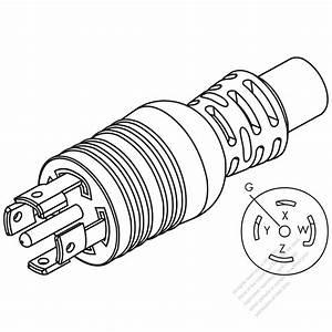 Usa  Canada Nema L22  5 Wire