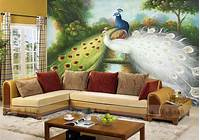 magnificent mursery wall mural Magnificent Peacock Wall Mural - Home Design #981