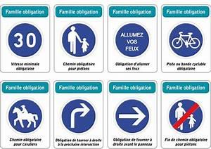 Panneau De Signalisation Code De La Route : jeu des 5 familles de panneaux de signalisation routi re famille obligation panneau de ~ Medecine-chirurgie-esthetiques.com Avis de Voitures