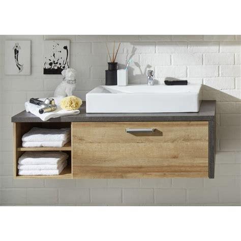 Kleine Badezimmer Unterschränke by Waschbecken Unterschrank Eiche Rivera Inkl Aufsatzbecken