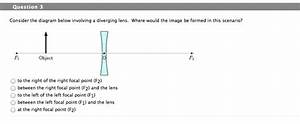 Solved  Question 1 Consider The Ray Diagram Below For A Di
