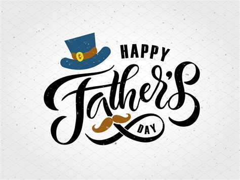 In the uk, it falls on the third sunday of june each year, following mother's day in march. Happy Fathers Day Lettering Card   Creative Templates ...