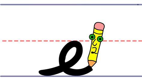 Pencil Pete's Cursive Writing  Lowercase E Youtube