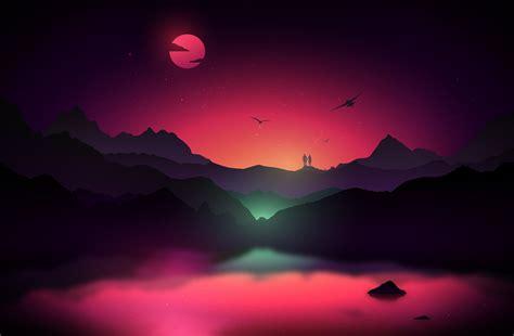 vibrant color 35 scenic landscape illustrations with vibrant colors