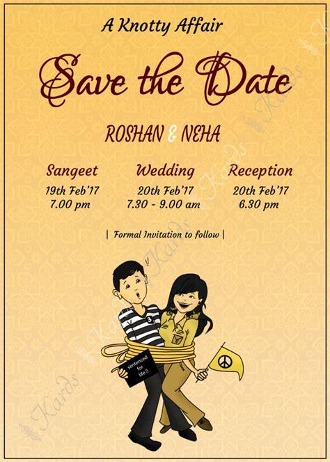 Fun unique and creative Indian Wedding Invitation