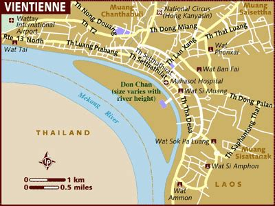 vientiane travel map mekong river cruises