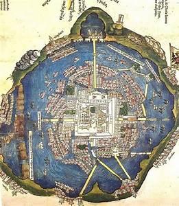 Carta dell'antica Tenochtitlan, (Città del Messico) Pianta ...