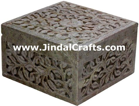 marble table carved marble jewelry box indian
