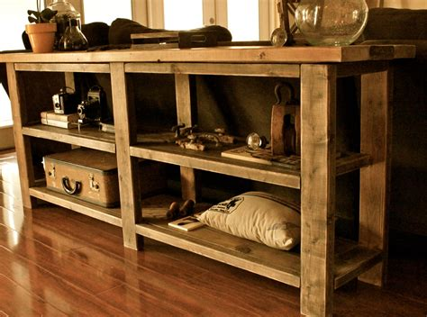 farmhouse tv console table ana white console table diy projects