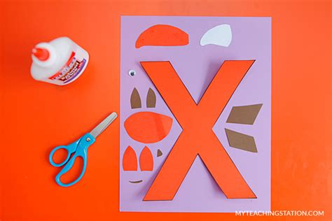Letter X Crafts For Preschool Or Kindergarten Fun Easy And
