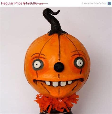 On Sale Large Halloween Pumpkin Head Clay Por