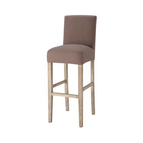 but chaise de bar housse de chaise de bar en coton taupe boston maisons du