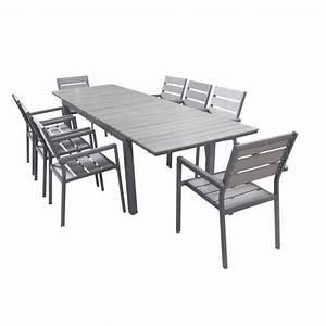 Table De Jardin Extensible Aluminium : ensemble table extensible de jardin 200 250 300 cm 8 ~ Teatrodelosmanantiales.com Idées de Décoration