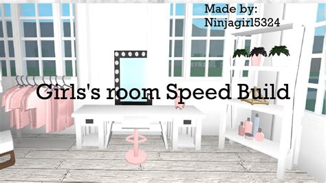 bloxburg girlss bedroom speed build youtube
