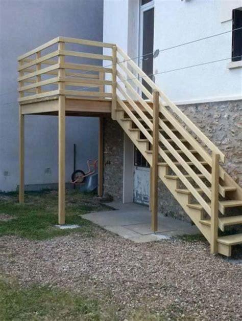 escalier en exterieur fabrication et pose d escaliers ext 233 rieurs en eure et loir