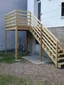 Escalier Extérieur En Bois : fabrication et pose d 39 escaliers ext rieurs en eure et loir ~ Dailycaller-alerts.com Idées de Décoration