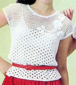 Patrón Para Tejer Blusa Calada Con flores a Crochet | Bluz ...