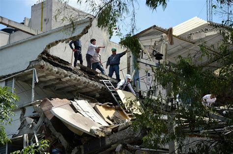 M=7.1 Earthquake Collapses Buildings In Mexico City On The