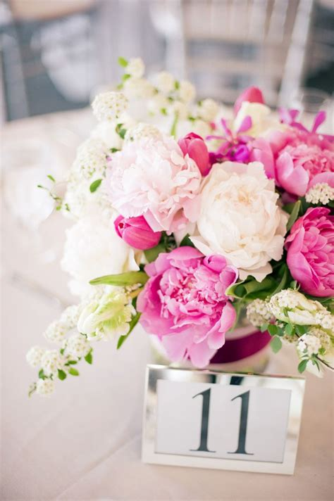 pink flower centerpieces ideas  pinterest