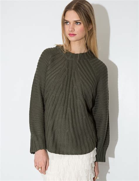 slouchy sweater pixie market olive green slouchy sweater in green olive