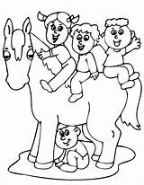 Horse Coloring Pages Riding Horses Cartoons Cartoon Miniature Popular Template Library Clipart Coloringhome sketch template