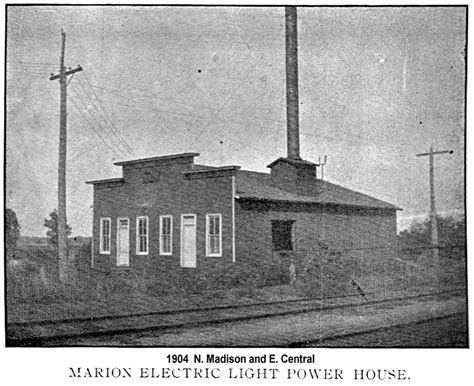 Edison Electric Light Company by Power Plant Marion Illinois History Preservation