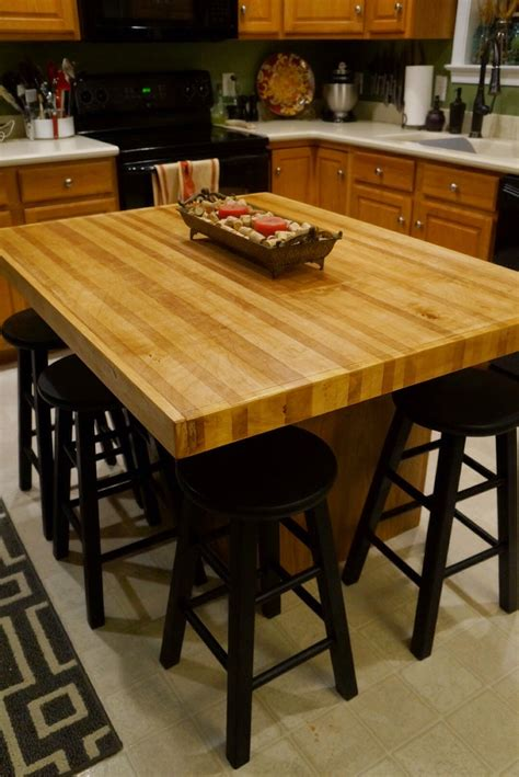 butcher block countertop island diy butcher block island countertop
