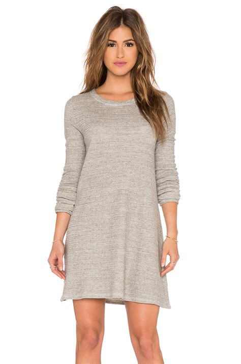 gray sweater dress cp shades mercedes sweater tunic dress in gray lyst