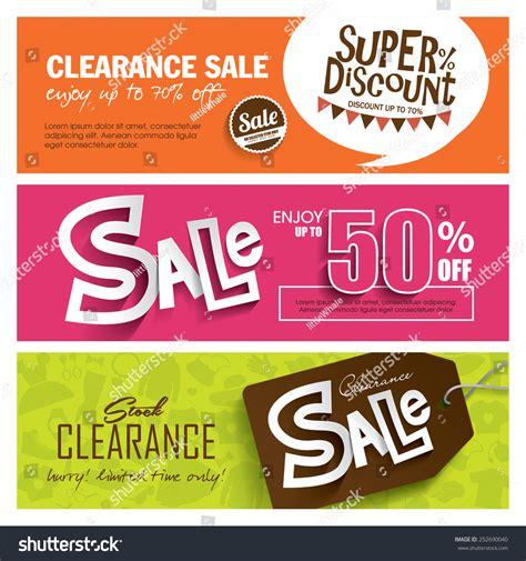 sale banners design stock vector 252690040 shutterstock