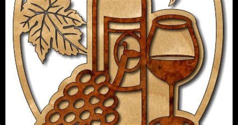 scrollsaw workshop grapes  wine scroll  pattern