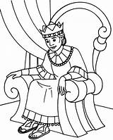 Throne King Coloring Sitting Pages Clipart Queen Clip Colouring David Printable Clipartmag sketch template